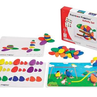 Радужные камешки (48 штук) с карточками заданий А4 - купить по выгодной цене в интернет-магазине «Кладовая Теплоты».